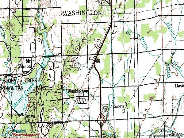 Zip code 48093 topographic map
