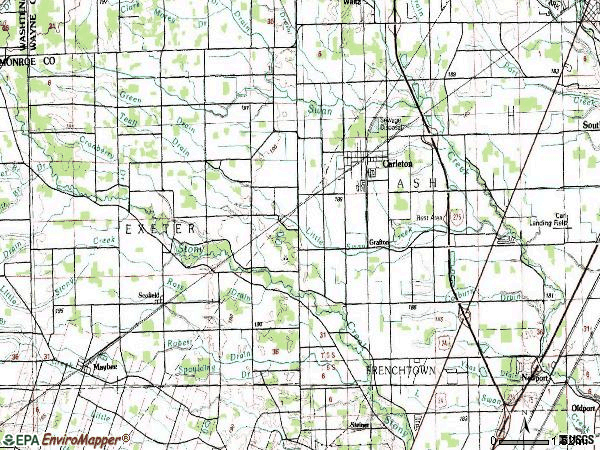 Zip code 48117 topographic map