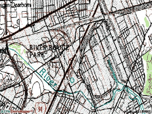 Zip code 48120 topographic map
