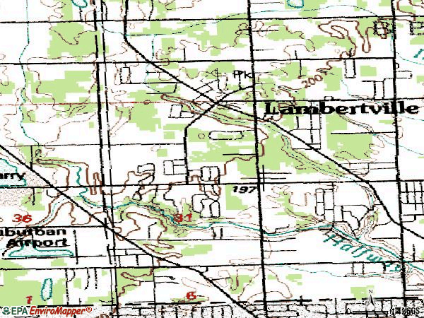Zip code 48144 topographic map