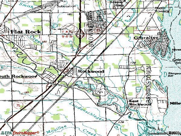 Zip code 48173 topographic map