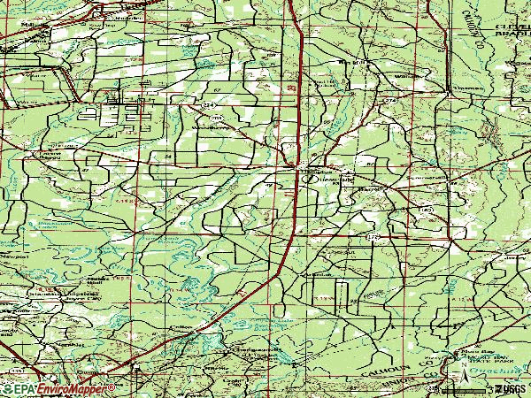 Zip code 71744 topographic map