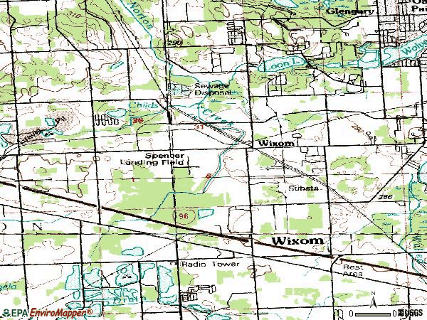 Zip code 48393 topographic map