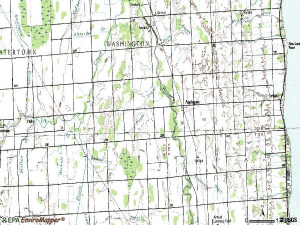Zip code 48401 topographic map
