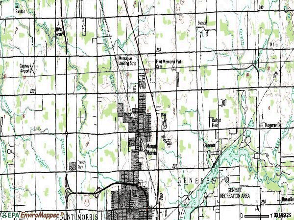 Zip code 48458 topographic map