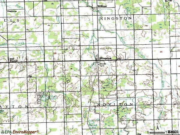Zip code 48741 topographic map