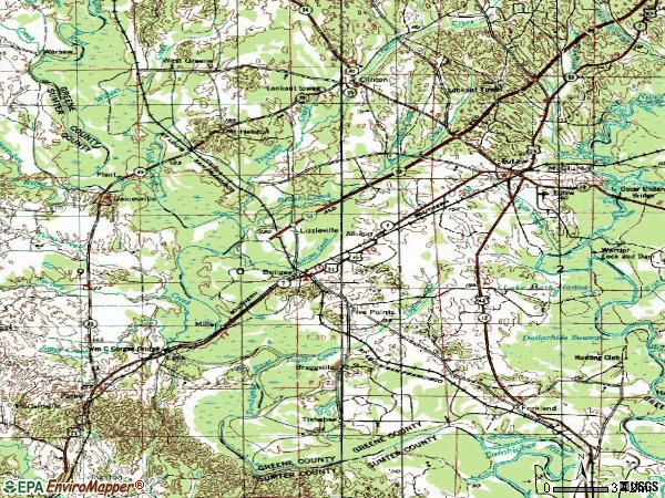 Zip code 35443 topographic map