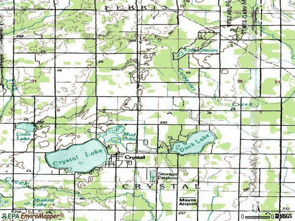 Zip code 48818 topographic map