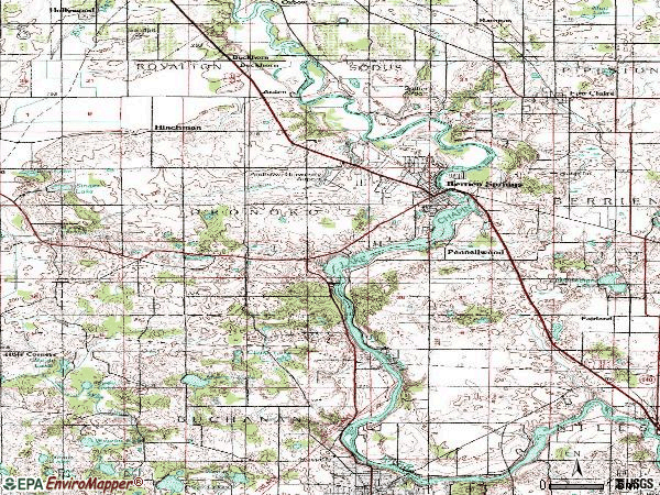 Zip code 49103 topographic map