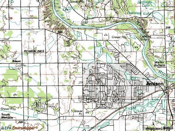Zip code 49428 topographic map