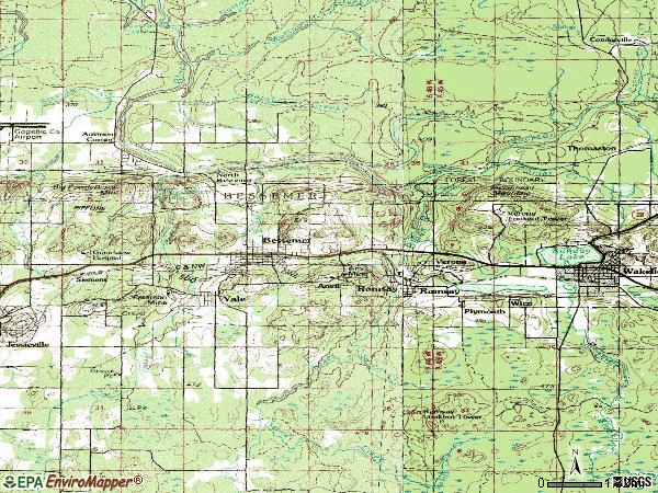 Zip code 49911 topographic map