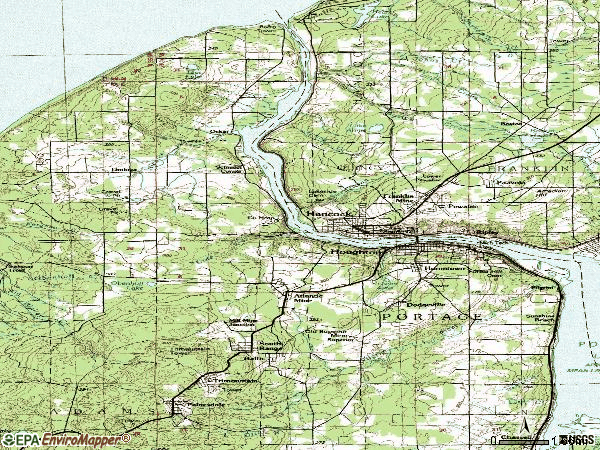 Zip code 49931 topographic map