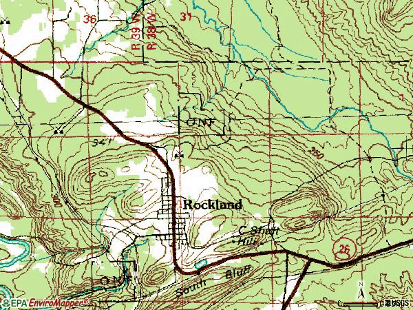 Zip code 49960 topographic map