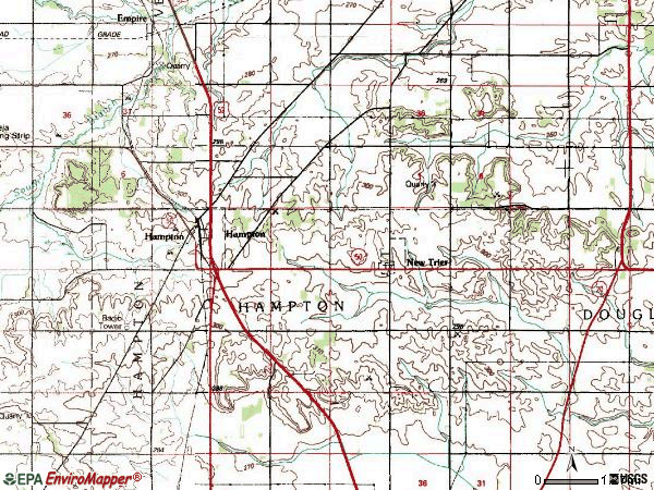 Zip code 55031 topographic map