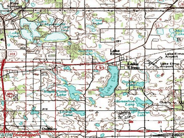Zip code 55042 topographic map