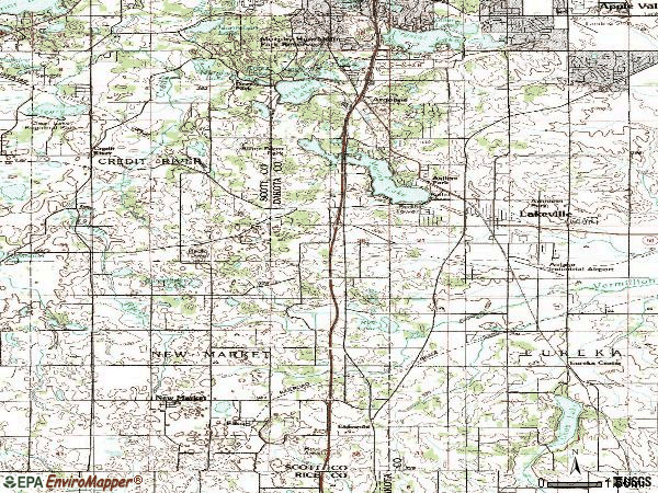 Zip code 55044 topographic map