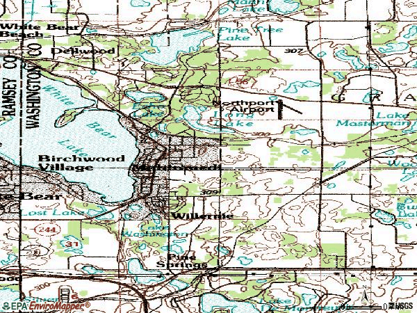 Zip code 55115 topographic map