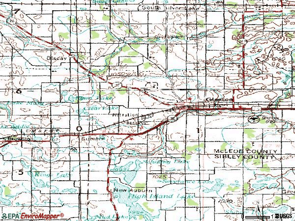 Zip code 55336 topographic map