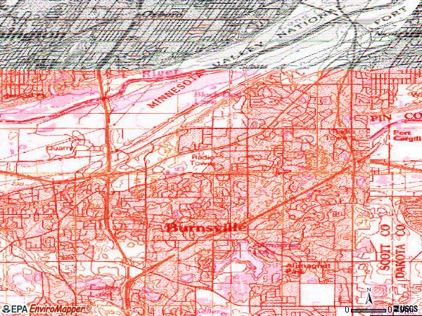 Zip code 55337 topographic map