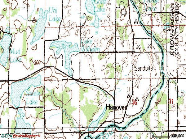 Zip code 55341 topographic map