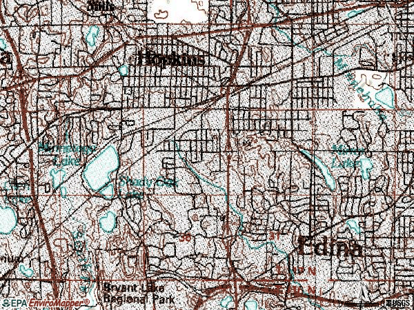 Zip code 55343 topographic map