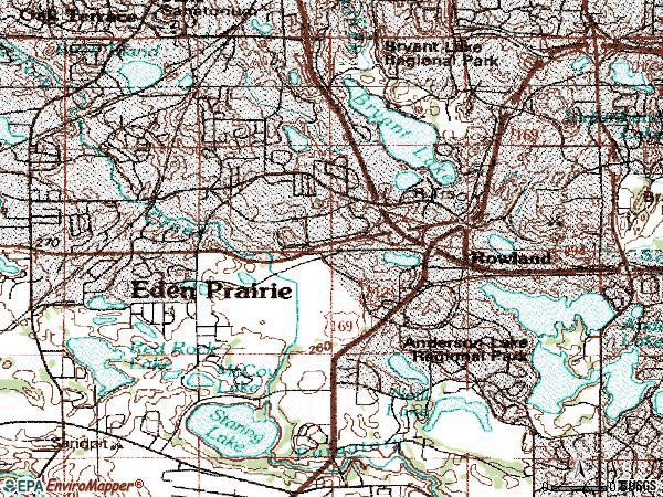 Zip code 55344 topographic map