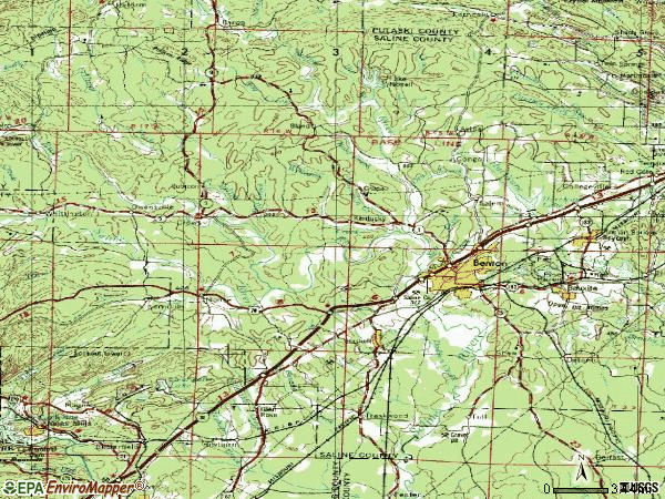 Zip code 72015 topographic map