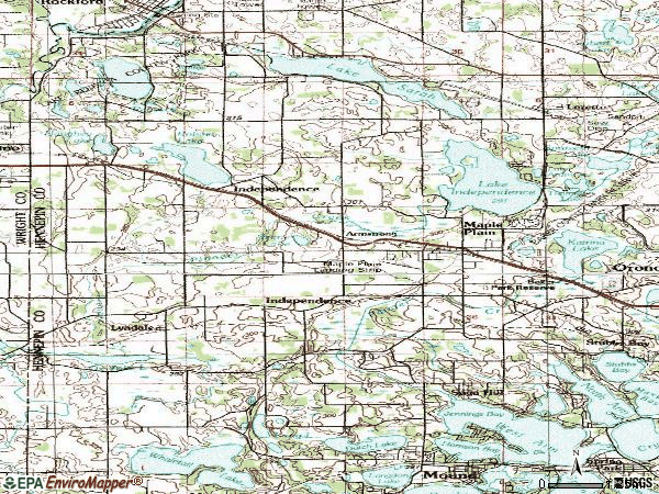 Zip code 55359 topographic map