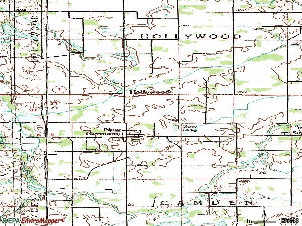 Zip code 55371 topographic map