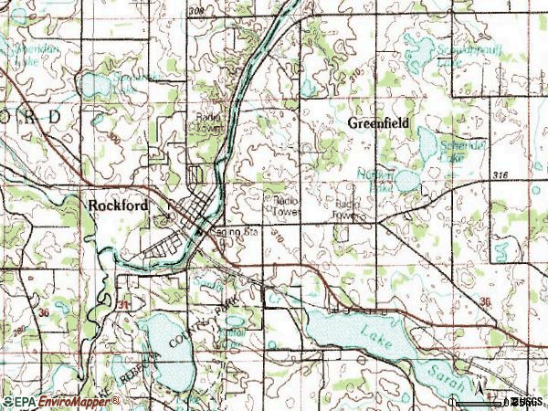 Zip code 55373 topographic map