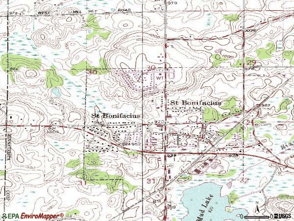 Zip code 55375 topographic map
