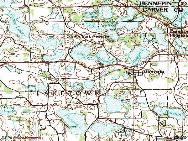 Zip code 55386 topographic map