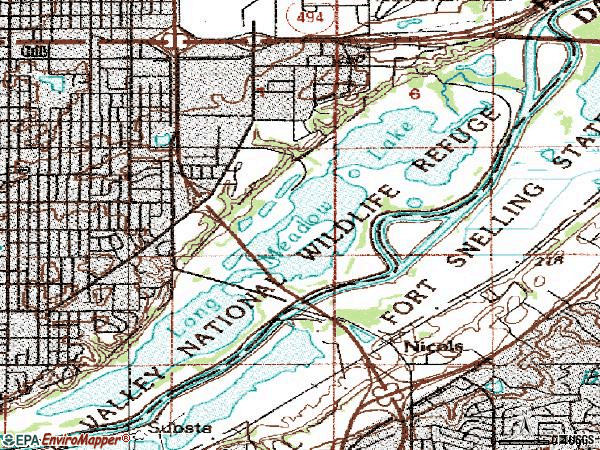 Zip code 55425 topographic map