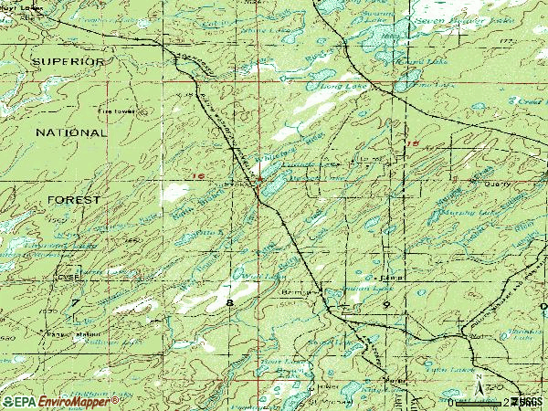 Zip code 55602 topographic map