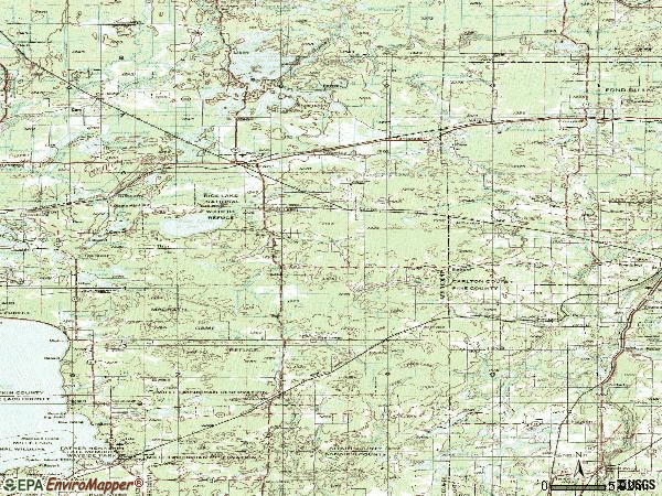 Zip code 55735 topographic map