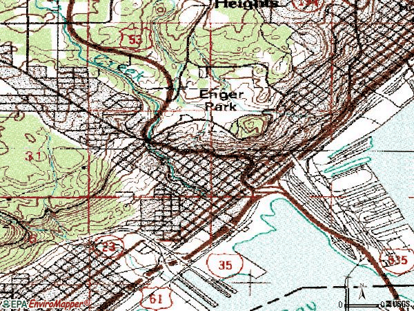 Zip code 55806 topographic map
