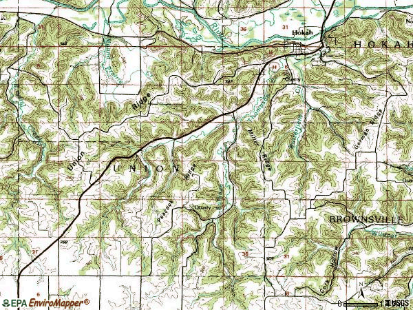 Zip code 55941 topographic map
