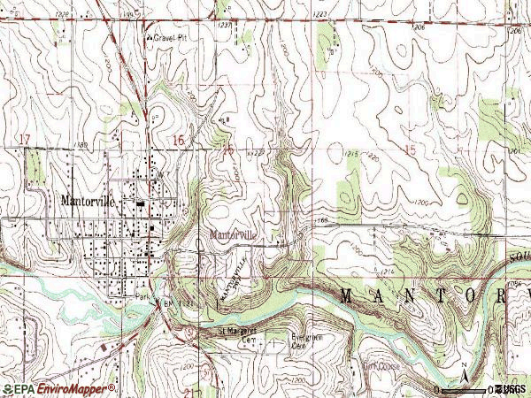 Zip code 55955 topographic map