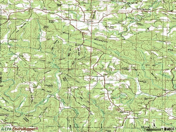 Zip code 72051 topographic map