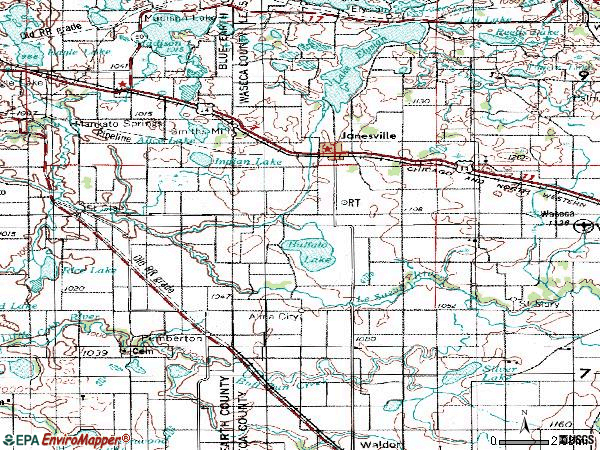 Zip code 56048 topographic map
