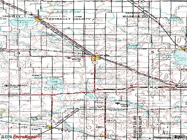 Zip code 56097 topographic map