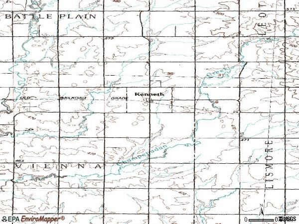 Zip code 56147 topographic map