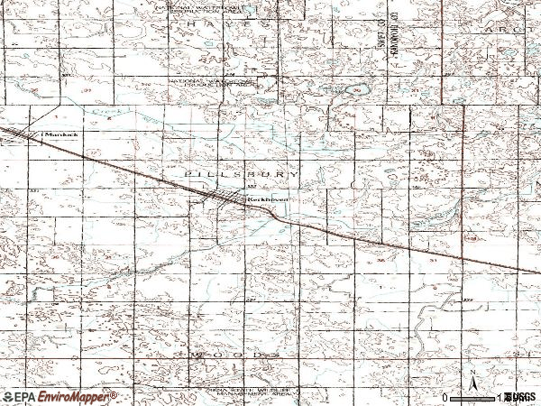 Zip code 56252 topographic map