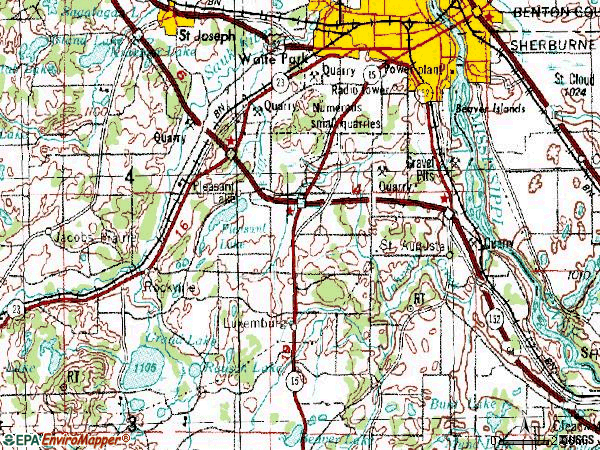 Zip code 56301 topographic map