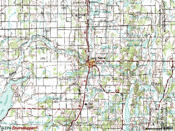 Zip code 56347 topographic map