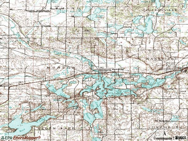 Zip code 56368 topographic map
