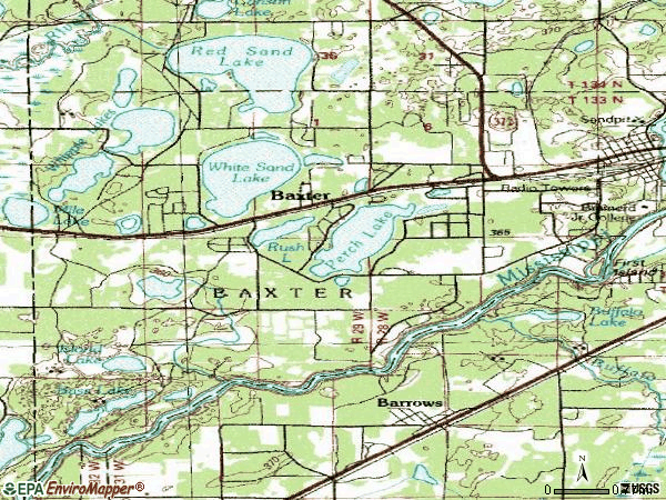 Zip code 56425 topographic map