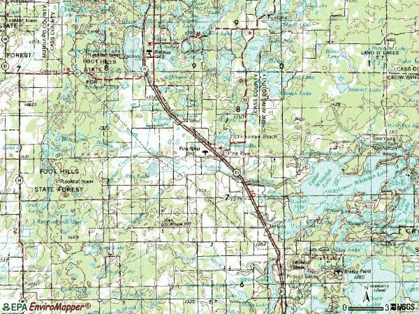 Zip code 56474 topographic map