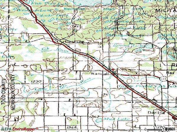 Zip code 56475 topographic map
