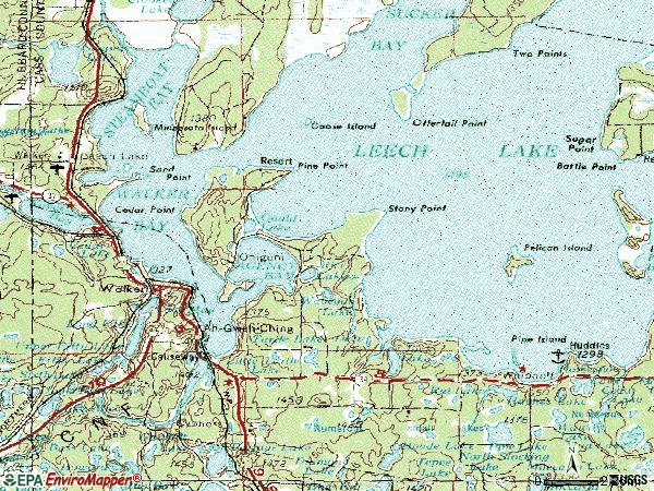 Zip code 56484 topographic map